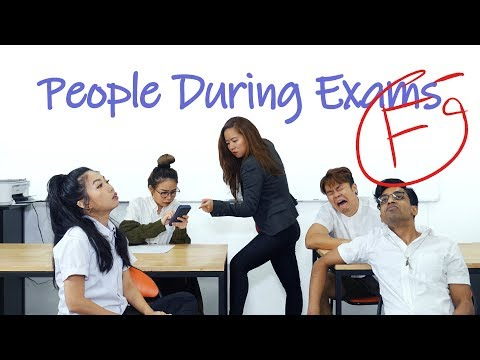 People During Exams