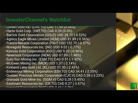 InvestorChannel's Gold Watchlist Update for Monday, August ... Thumbnail