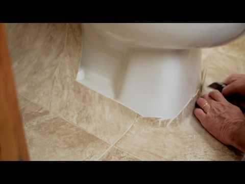 Sheet Vinyl Installation Tip: Cutting Around a Toilet