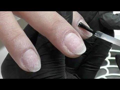 Die Creme von gribok auf dem Finger des Beines