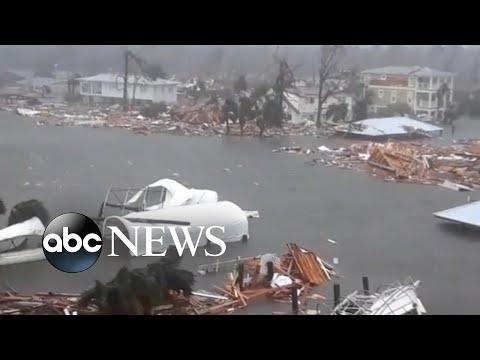 Inside Hurricane Michael as it made landfall (видео)