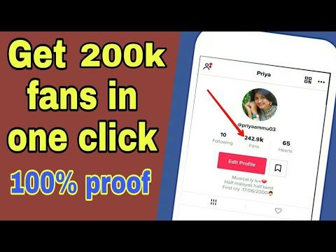 Get 200k fans in one click on tiktok musically in hindi/urdu free