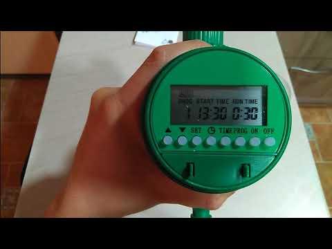 Programar temporizador programador de riego