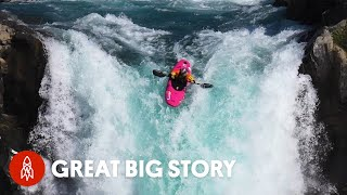 Riding A Kayak Over A 134-Foot Waterfall