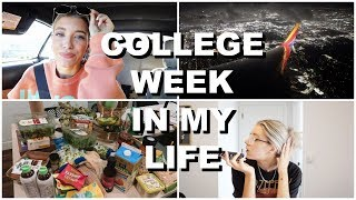 COLLEGE WEEK IN MY LIFE: new projects, grocery haul & traveling! | Keaton Milburn