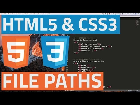 HTML5 and CSS3 beginner tutorial 9 - File paths