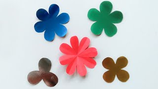 How to Cut 3,4,5,6,8 Petals Paper Flowers - Easy paper cutting flower - Diy Paper Flower