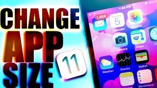 CHANGE APP SIZE ON IOS / CUSTOMIZE ANY IOS DEVICE / COOL IOS CUSTOMIZATION TRICKS