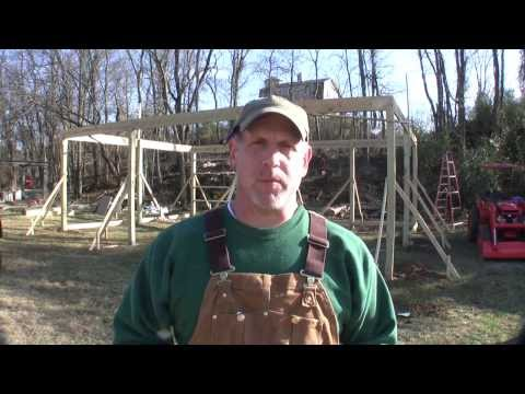 How to Build a Pole Barn Pt 5 - Setting Trusses
