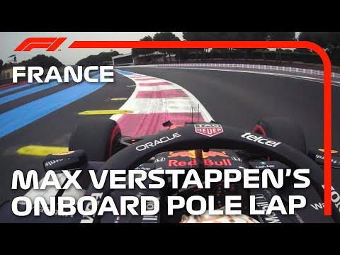 F1第7戦フランスGP(ル・キャステレ)のポールポジションを獲得したホンダのマックス・フェルスタッペンのオンボード映像
