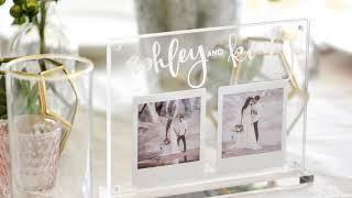 Wedding Table Number Idea + Centerpiece Idea with Instax Printer Photos