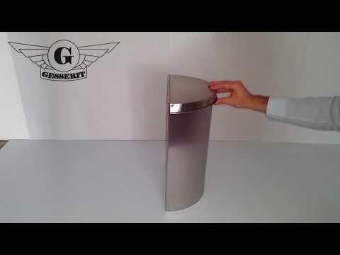 Inox 15 liter edelstahl, rostfrei Mülleimer für Sanitär, WC, Bad, Badezimmer, Toiletten 01-781