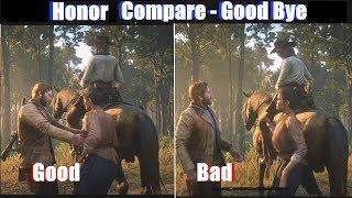RDR2 Good Arthur vs Bad Arthur Good Bye & Last Ride - Red Dead Redemption 2 Ps4 Pro