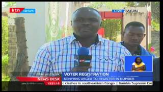 Nakuru County records low turn out on the second day of Voter registeration