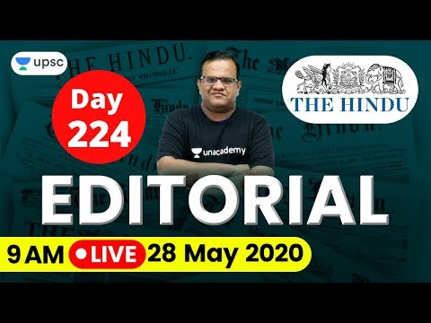 UPSC CSE 2020 | The Hindu Editorial Analysis for IAS Preparation by Ashirwad Sir | 28 May 2020