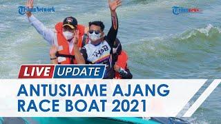 Sambut HUT ke-9 Kaltara, Puluhan Motoris Speedboat Adu Cepat di Ajang Race Boat Cup I 2021