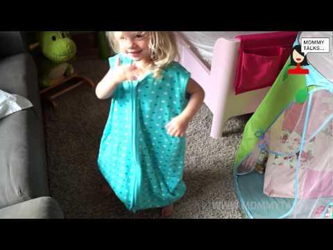 Schlummersack Schlafsack mit Füßen Bewertung video