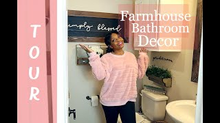 Farmhouse Bathroom Decor II Rustic Country Small Bathroom Tour