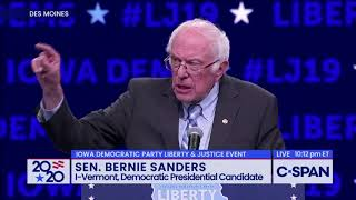 """""""I Welcome Their Hatred"""" - Bernie Sanders reads FDR Quote"""