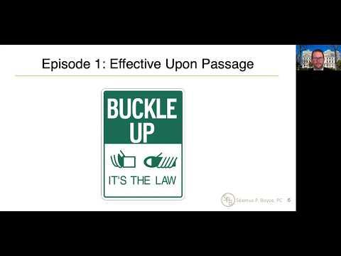 Episode 1 – Effective Upon Passage