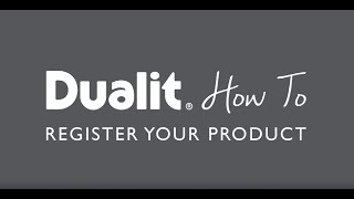 How to Register Your Product with Dualit preview