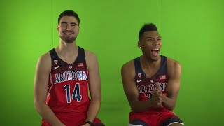 2017 Pac-12 Men's Basketball Media Day: Arizona's Allonzo Trier and Dusan Ristic share their...