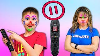 Вот Так Посмеялись 🤣!!! Челлендж ПАУЗА на 24 часа // Мама и Серёжа смешное видео !