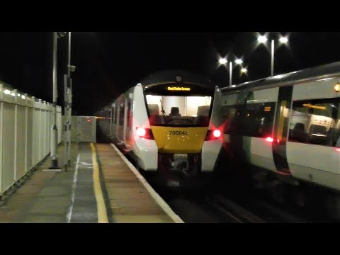Thameslink 700042 & 700106 pass Lancing working 3Z10 & 3Z13 …