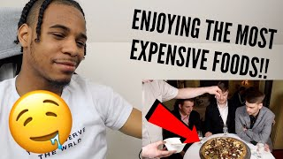 I Ate A $70,000 Golden Pizza (REACTION)