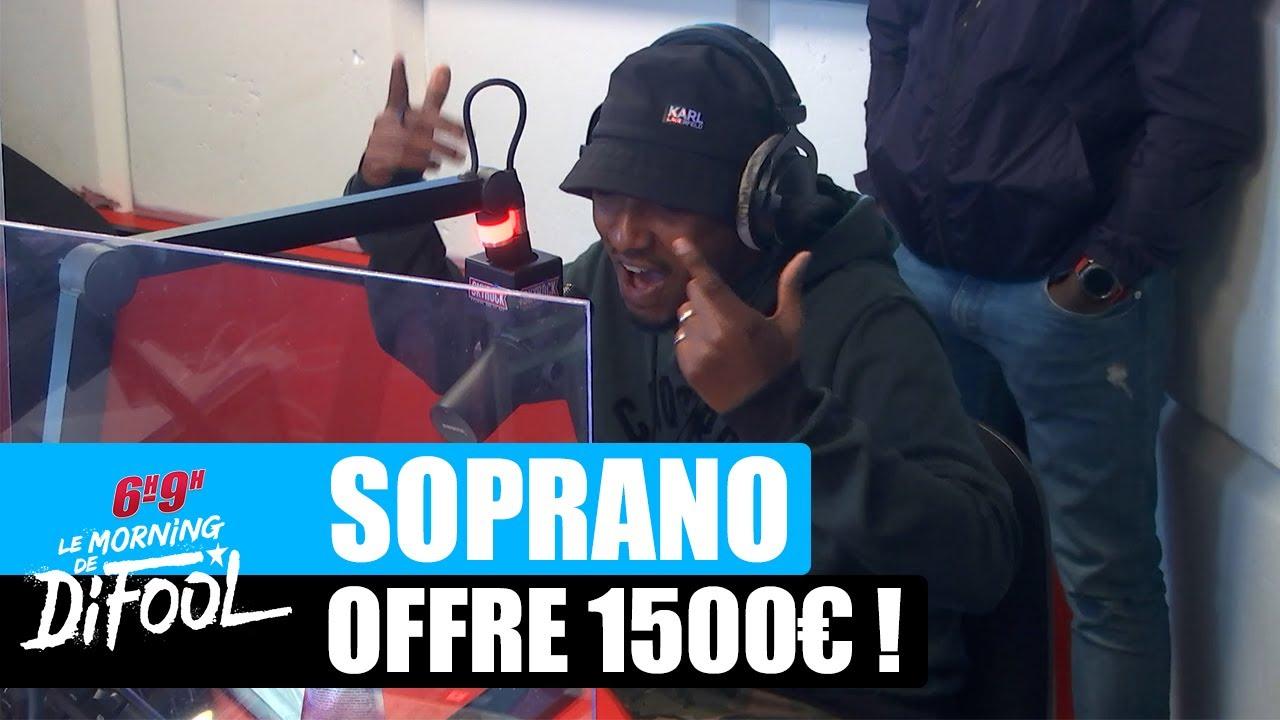 Soprano offre 1500€ à un auditeur ! #MorningDeDifool
