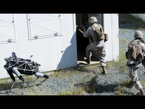 Marines testing Spot, the four-legged robot