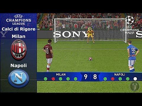 Milan Vs Napoli • Champions League (Calci di Rigore) • PES 2019 Patch [Giù]