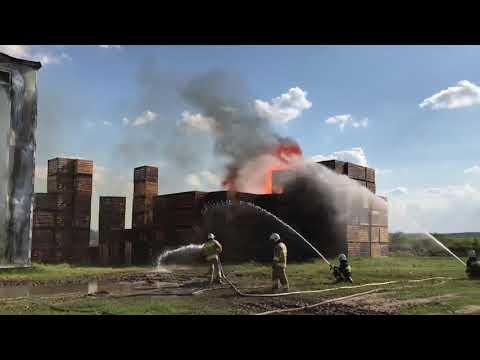 Wideo1: Pożar hali w Waszkowie