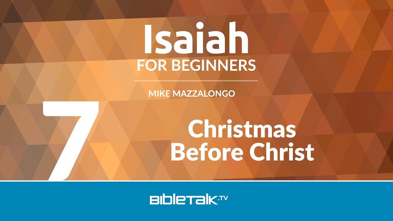 7. Christmas Before Christ