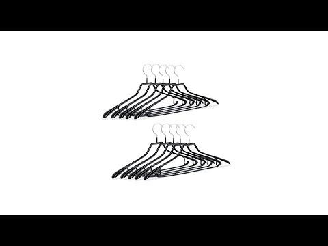 10er Set schwarze Anzugbügel rutschfest
