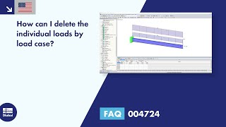 FAQ 004724 | How can I delete the individual loads by load case?