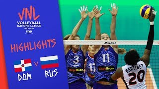 Dominican Republic vs. Russia - Game Highlights Women |Week 1 | Volleyball Nations League 2019