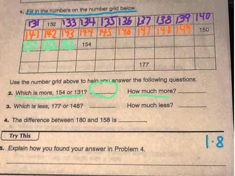 Home Link 5 1 Everyday Math 3rd Grade