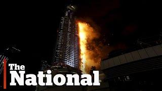 Dubai skyscraper fire on New Year's Eve