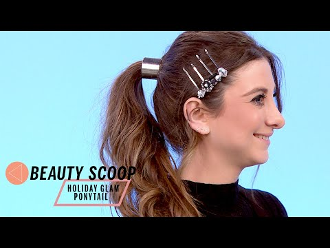Sarah Potempa's Holiday Glam Ponytail | Beauty Scoop | Health