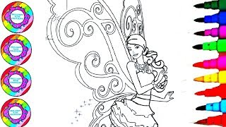 Colouring And Drawing Barbie The Fairy Secret With Marshmallows Colored Wings Coloring Pages