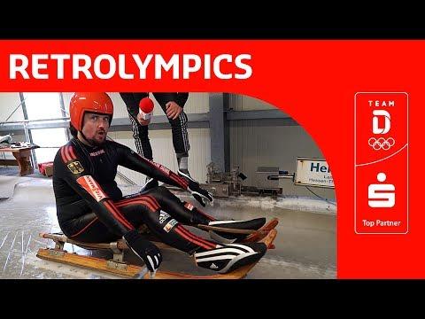 Mit historischem Rennrodel in den Eiskanal   Team Deutschland   PyeongChang 2018