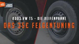 #03 • Stahlfelgen Aufbereiten für unter 40€ | VW T5 Camper Umbau