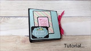 Tutorial For My Beginners Easy And Simple Mini Album With Flaps