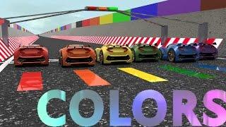 Little Car Designer Colors Rainbow Racing