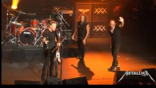 Metallica Lars and Kirk Switching Instrument live San Diego 2013