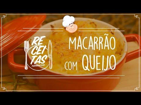 Que tal uma receita do delicioso macarrão com queijo?