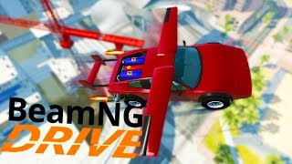 BeamNG Drive - Awesome Mods - Flying Supercar, Attachable Rocket & A Railcar - BeamNG Drive Gameplay