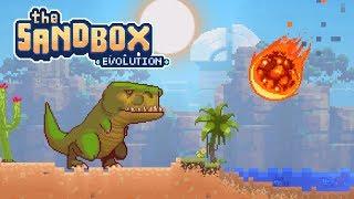 The Sandbox Evolution - Meteor Vs T-Rex! - Let's Play The Sandbox Evolution