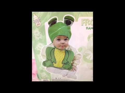 Costume Carnevale Rana Abito Bambino Bebè Travestimento Rana Verde